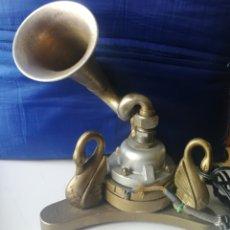 Gramófonos y gramolas: MUY ANTIGUO ALTAVOZ-ALTOPARLANTE DE TROMPETA MARCA CICCA (FUNCIONANDO) FABRICADO EN PARIS. Lote 182307937