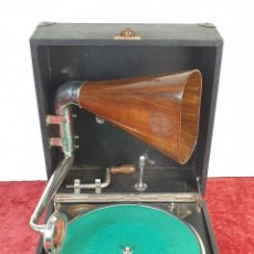 Gramófonos y gramolas: GRAMOFONO. PORTAFONO DUPLEX. CABEZAL SONATA. ALTAVOZ DE MADERA. SIGLO XX. . Lote 183760450