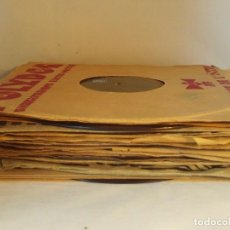 Gramófonos y gramolas: GRAN LOTE DE 20 DISCOS DE PIZARRA DE 25 CM PARA GRAMOFONO- AÑOS 20-LOTE 5: DIVERSOS ESTILOS. Lote 184579030