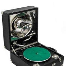 Gramófonos y gramolas: ESPECTACULAR GRAMÓFONO ANTIGUO , DE MANIVELA, ORIGEN SUIZO, FUNCIONANDO PERFECTAMENTE.. Lote 184834571