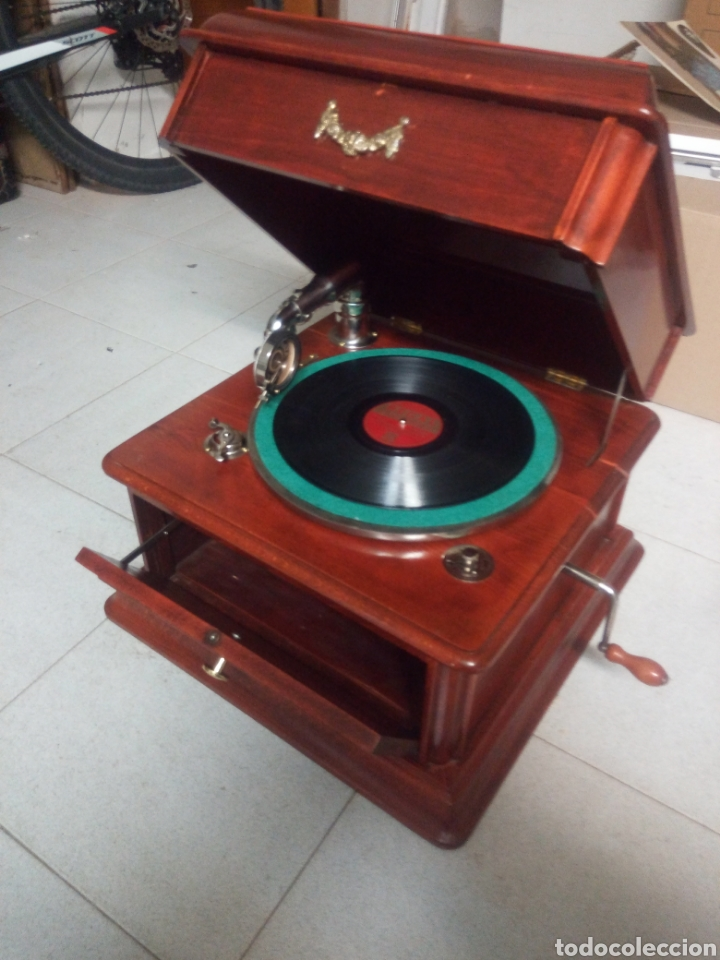 Gramófonos y gramolas: ESPECTACULAR GRAMÓFONO DE MADERA CIRCA 1920 ENVIO GRATIS!!!! - Foto 8 - 185660433