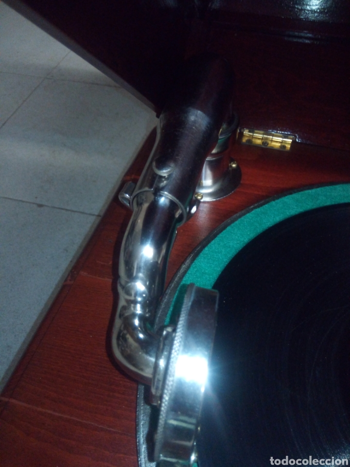 Gramófonos y gramolas: ESPECTACULAR GRAMÓFONO DE MADERA CIRCA 1920 ENVIO GRATIS!!!! - Foto 9 - 185660433