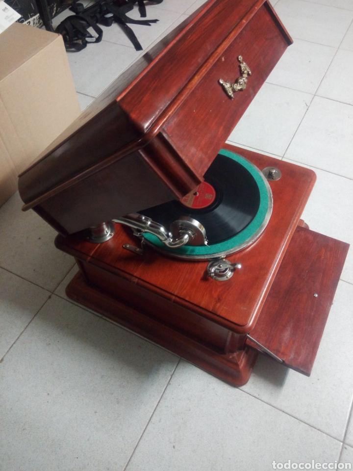 Gramófonos y gramolas: ESPECTACULAR GRAMÓFONO DE MADERA CIRCA 1920 ENVIO GRATIS!!!! - Foto 5 - 185660433