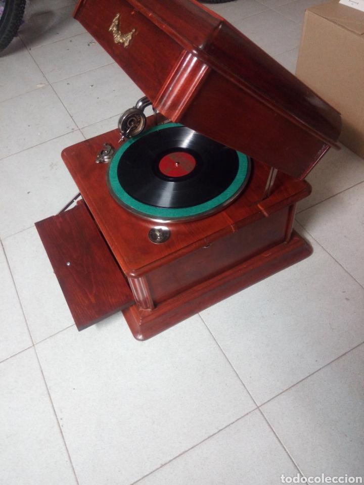 Gramófonos y gramolas: ESPECTACULAR GRAMÓFONO DE MADERA CIRCA 1920 ENVIO GRATIS!!!! - Foto 4 - 185660433