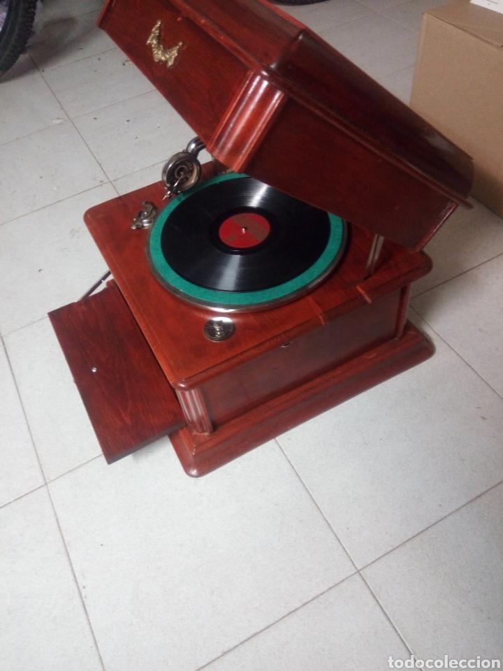 Gramófonos y gramolas: ESPECTACULAR GRAMÓFONO DE MADERA CIRCA 1920 ENVIO GRATIS!!!! - Foto 3 - 185660433