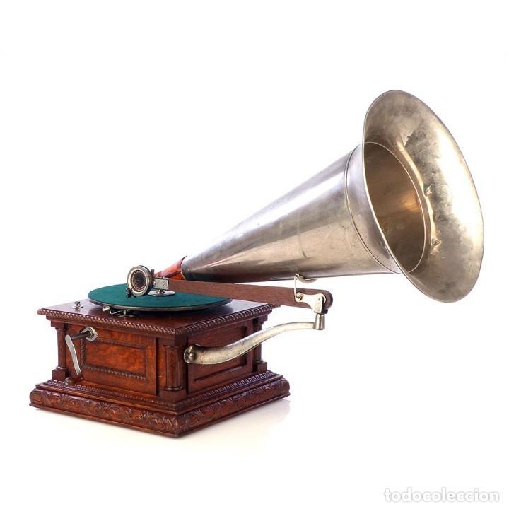 ANTIGUO GRAMÓFONO MONARCH EUROPEO LA VOZ DE SU AMO. FRANCIA, 1903 (Radios, Gramófonos, Grabadoras y Otros - Gramófonos y Gramolas)