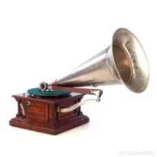 Gramófonos y gramolas: ANTIGUO GRAMÓFONO MONARCH EUROPEO LA VOZ DE SU AMO. FRANCIA, 1903. Lote 185695856