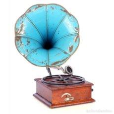 Gramófonos y gramolas: RARO GRAMÓFONO DE TROMPETA CARETTE. RESTAURADO. ALEMANIA, CIRCA 1915. Lote 185697127