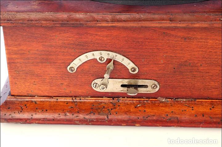 Gramófonos y gramolas: Raro Gramófono de Trompeta Carette. Restaurado. Alemania, Circa 1915 - Foto 9 - 185697127