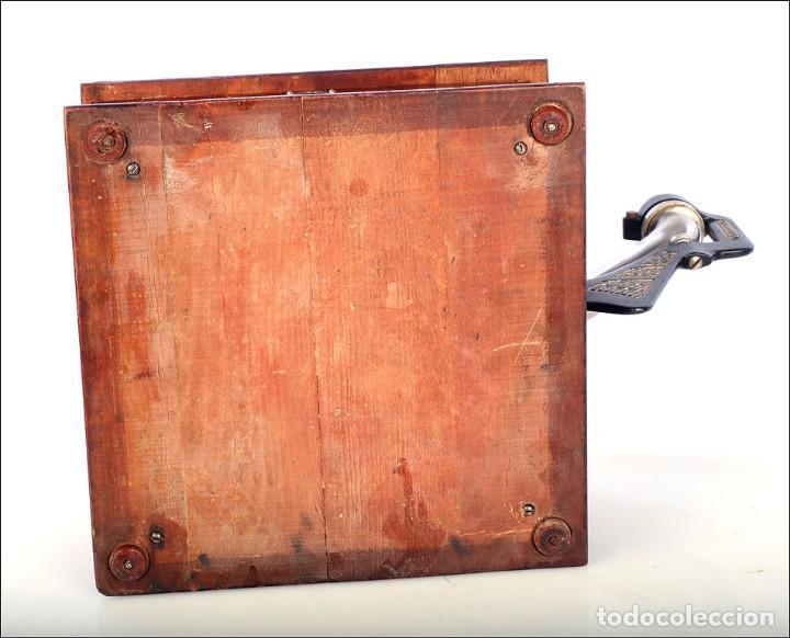 Gramófonos y gramolas: Raro Gramófono de Trompeta Carette. Restaurado. Alemania, Circa 1915 - Foto 17 - 185697127