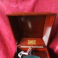 Gramófonos y gramolas: GRAMOLA CIA. DEL GRAMOFONO (HMV), CIRCA 1920, EXCELENTE Y FUNCIONANDO PERFECTA. Lote 185917357