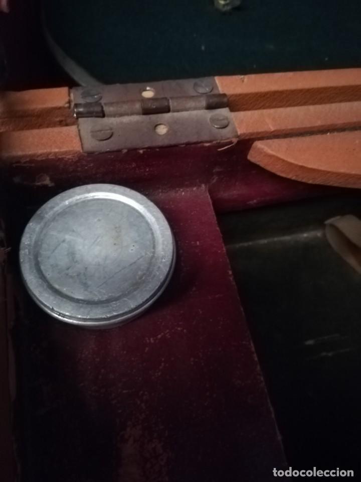Gramófonos y gramolas: GRAMÓFONO DE MALETA CON BOCINA LA VOZ DE SU AMO. C. COPPEL.MUY RARO.FUNCIONANDO. - Foto 13 - 190160241