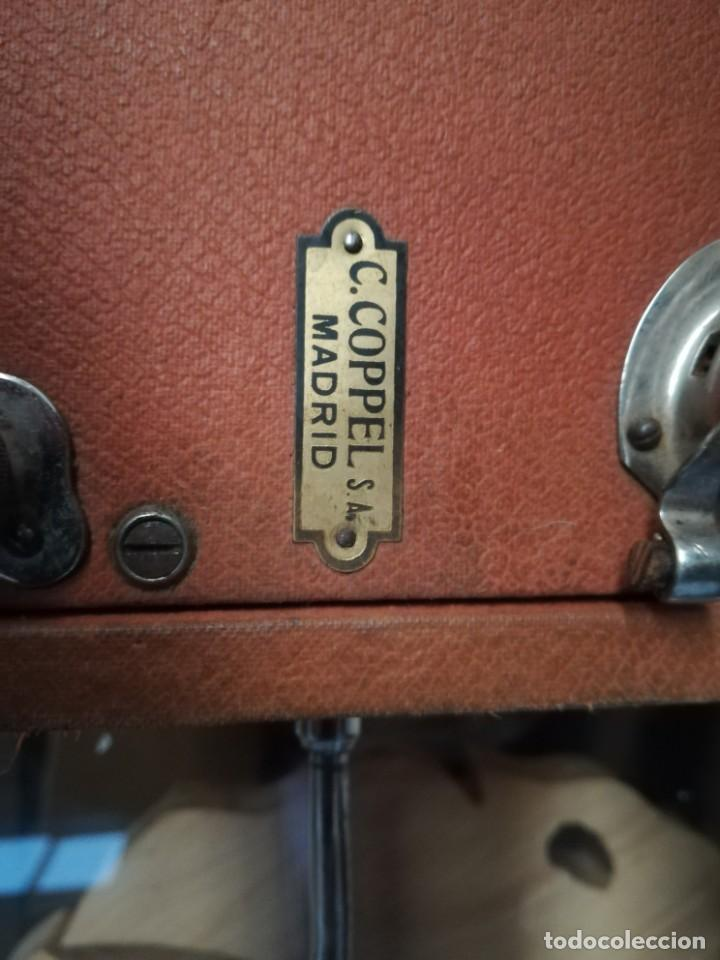 Gramófonos y gramolas: GRAMÓFONO DE MALETA CON BOCINA LA VOZ DE SU AMO. C. COPPEL.MUY RARO.FUNCIONANDO. - Foto 8 - 190160241