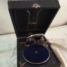 Phonographes: ANTIGUO GRAMOLA DE MANIVELA SIGLO XIX FUNCIONA. Lote 191093385