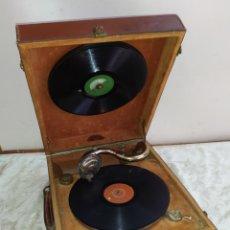 Phonographes: ESPECTACULAR GRAMOLA DE MANIVELA PATHÉ SIGLO XIX FUNCIONA. Lote 191101895