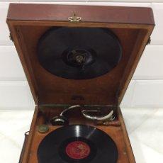 Gramófonos y gramolas: ANTIGUO GRAMÓFONO FRANCÉS. Lote 192843641