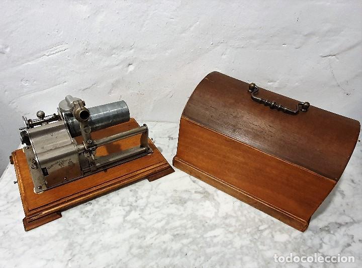 Gramófonos y gramolas: ANTIGUO FONOGRAFO PATHE ROYAL - Foto 3 - 193199198