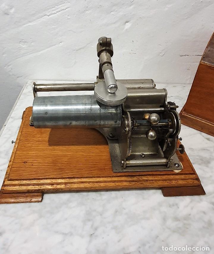 Gramófonos y gramolas: ANTIGUO FONOGRAFO PATHE ROYAL - Foto 5 - 193199198