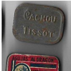 Gramófonos y gramolas: DOS CAJAS AGUJAS DE GRAMOFOGO ** AL DRAGON - CACHOU TISSOT ** CON AGUJAS. Lote 194208171