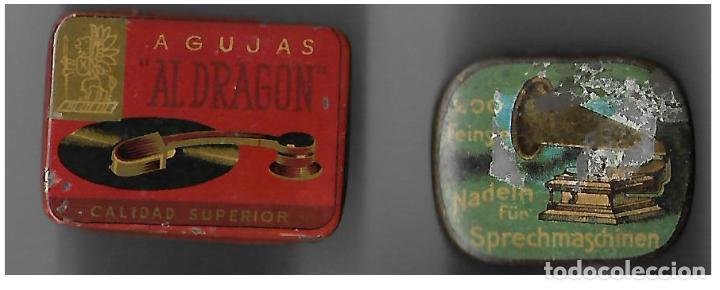 DOS CAJAS AGUJAS DE GRAMOFOGO ** NADELN SPRECHMASCHINEN - AL DRAGON ** CON AGUJAS (Radios, Gramófonos, Grabadoras y Otros - Gramófonos y Gramolas)