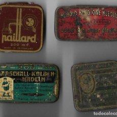 Gramófonos y gramolas: CUATRO CAJAS AGUJAS GRAMOFOGO **PAILLARD-HEROLD-KOLBEH-ELL DRAGON** CON AGUJAS. Lote 194209243