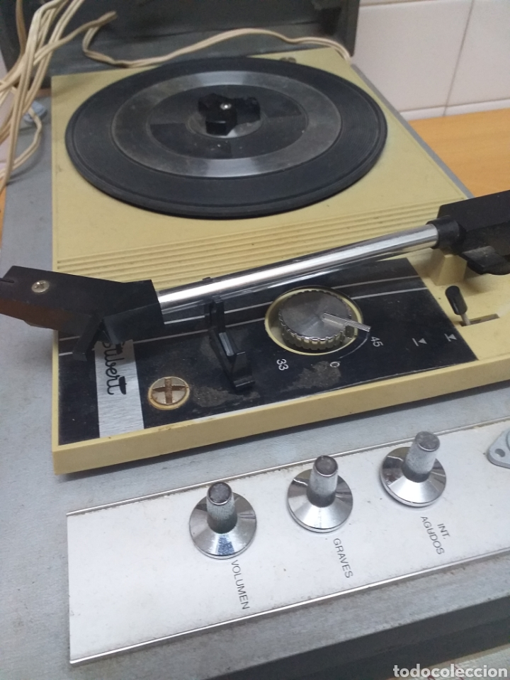 Gramófonos y gramolas: Antiguo tocadiscos maleta marca STIBERT mod 706, para restaurar o piezas - Foto 2 - 194505807