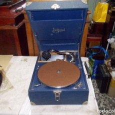 Gramófonos y gramolas: GRAMOLA JUPEVI FUNCIONANDO. Lote 195398763