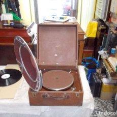 Gramófonos y gramolas: GRAMOFONO PATHE FUNCIONANDO. Lote 195401927