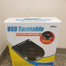 Gramófonos y gramolas: TOCADISCOS CON MP3. NUEVO EN CAJA.. Lote 195450875