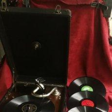 Gramófonos y gramolas: GRAMOFONO VOXA PARIS, EXCELENTE ESTADO Y FUNCIONADO PERFECTAMENTE (VER VIDEO). Lote 197415446