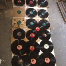 Gramofones e jukeboxes: GRAN LOTE DISCOS ANTIGUOS PIEDRA-PIZARA!. Lote 197572880