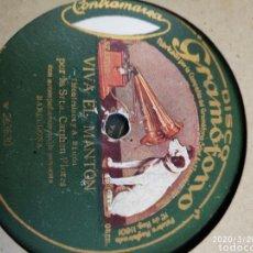 Gramófonos y gramolas: DISCO PIZARRA. Lote 197839537