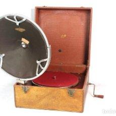 Gramófonos y gramolas: ANTIGUO GRAMOFONO PATHE DIFUSOR-- DE MALETA-- AÑO 1.920. Lote 199492850