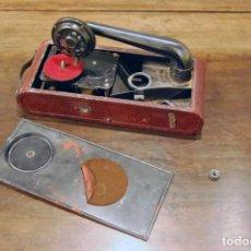 Gramófonos y gramolas: GRAMÓFONO DE VIAJE THORENS EXCELDA Y AGUJAS COLUMBIA. AÑOS 30. Lote 199666976