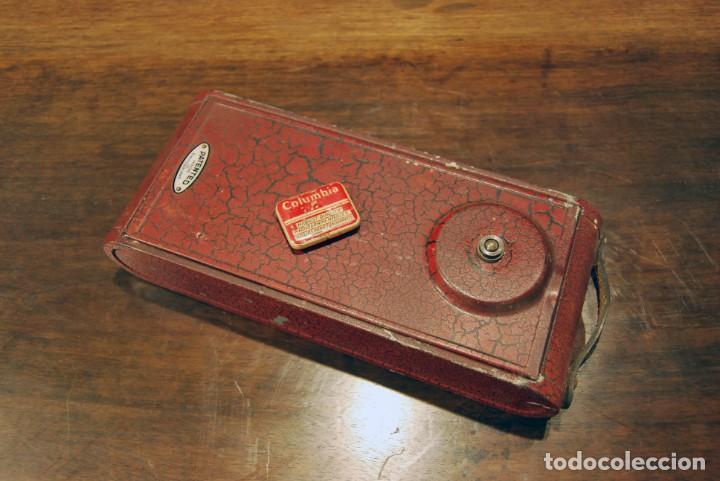 Gramófonos y gramolas: GRAMÓFONO DE VIAJE THORENS EXCELDA Y AGUJAS COLUMBIA. AÑOS 30 - Foto 2 - 199666976