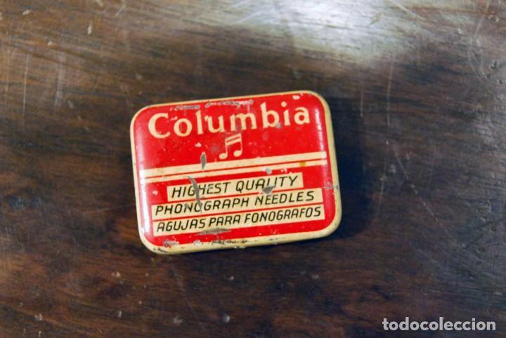 Gramófonos y gramolas: GRAMÓFONO DE VIAJE THORENS EXCELDA Y AGUJAS COLUMBIA. AÑOS 30 - Foto 5 - 199666976