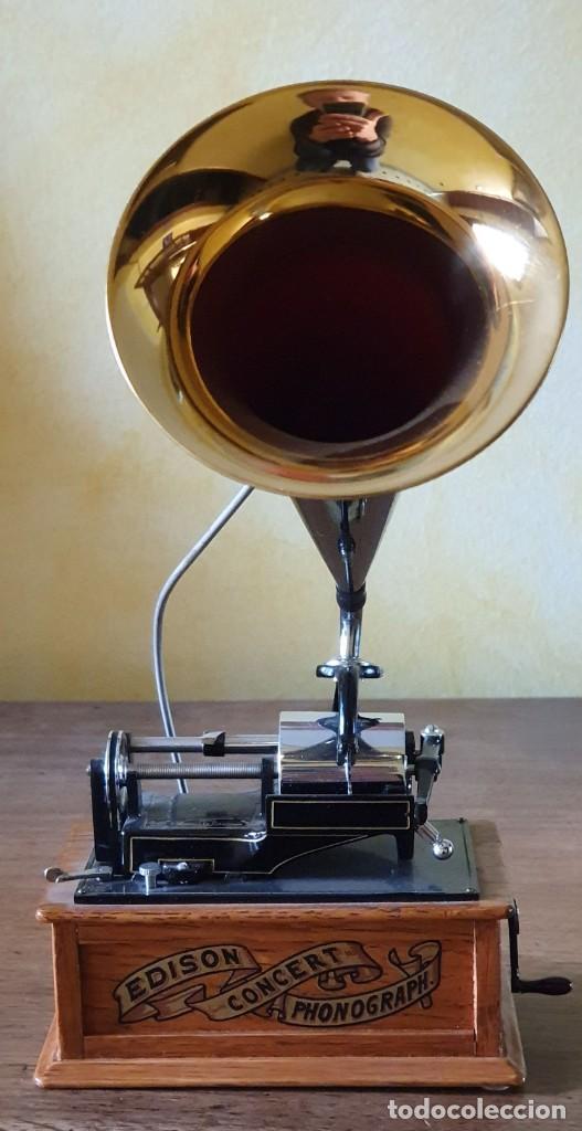 Gramófonos y gramolas: 5 FONÓGRAFOS - ESCALA 1/4 - MANUEL OLIVÉ SANS - CENTENARIO PHONÓGRAFO - NUMERADOS Y CERTIFICADOS. - Foto 3 - 200142547