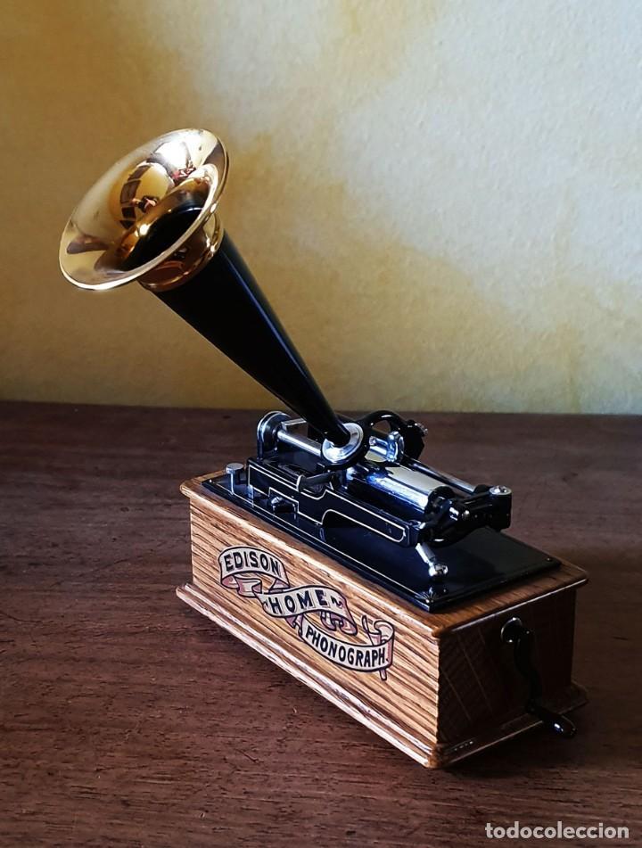 Gramófonos y gramolas: 5 FONÓGRAFOS - ESCALA 1/4 - MANUEL OLIVÉ SANS - CENTENARIO PHONÓGRAFO - NUMERADOS Y CERTIFICADOS. - Foto 6 - 200142547