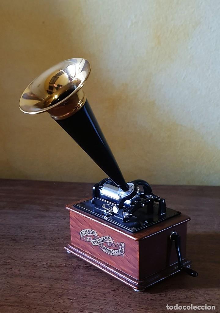 Gramófonos y gramolas: 5 FONÓGRAFOS - ESCALA 1/4 - MANUEL OLIVÉ SANS - CENTENARIO PHONÓGRAFO - NUMERADOS Y CERTIFICADOS. - Foto 8 - 200142547