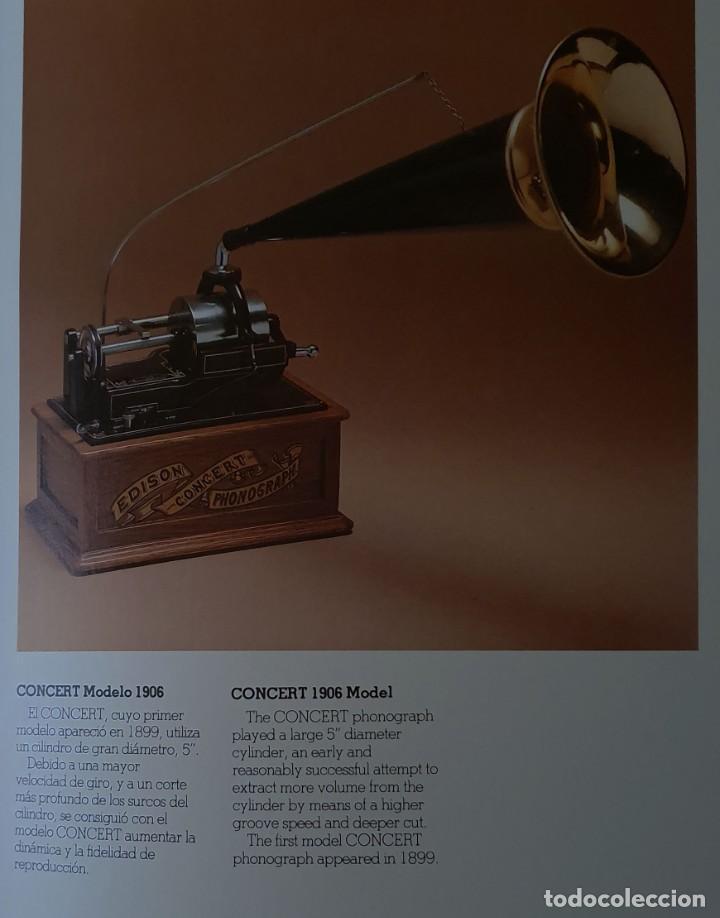 Gramófonos y gramolas: 5 FONÓGRAFOS - ESCALA 1/4 - MANUEL OLIVÉ SANS - CENTENARIO PHONÓGRAFO - NUMERADOS Y CERTIFICADOS. - Foto 20 - 200142547