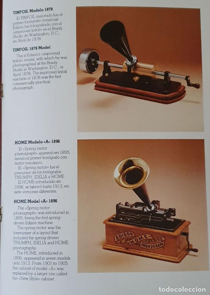 Gramófonos y gramolas: 5 FONÓGRAFOS - ESCALA 1/4 - MANUEL OLIVÉ SANS - CENTENARIO PHONÓGRAFO - NUMERADOS Y CERTIFICADOS. - Foto 21 - 200142547