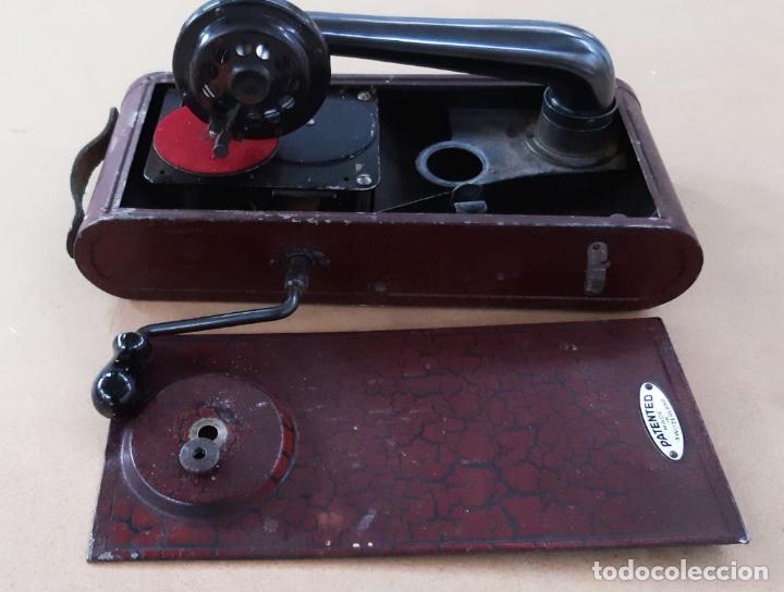 Gramófonos y gramolas: GRAMÓFONO DE VIAJE THORENS EXCELDA Y AGUJAS COLUMBIA. AÑOS 30 - Foto 8 - 199666976