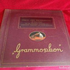 Gramófonos y gramolas: ALBUM DISCOS DE PIZARRA LA VOZ DE SU AMO...VERDI. Lote 203036127