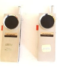 Gramofones e jukeboxes: PAREJA ANTIGUOS WALKIE TALKIE STANDAR 2 WAY RADIO.16CMX4.5CM. Lote 205396855