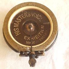 Gramófonos y gramolas: GRAMAPHONE REPRODUCERS MARCA HIS MASTERS VOICE EXHIBITION ENGLAND. Lote 205680640
