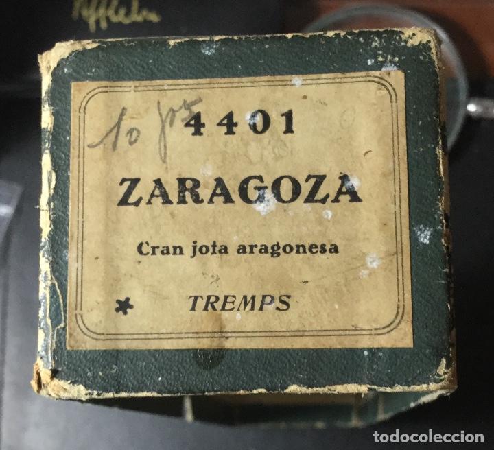 Gramófonos y gramolas: DISCO , ROLLO , MÚSICA , GRAMOLA ANTIGUO , GRAN JOTA ARAGONESA ZARAGOZA0 ,PUBLICIDAD, TREMPS . - Foto 2 - 205826663