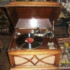 Gramófonos y gramolas: ANTIGUO GRAMOFONO-LA VOZ DE SU AMO- TODO ORIGINAL-FUNCIONA. Lote 207194131