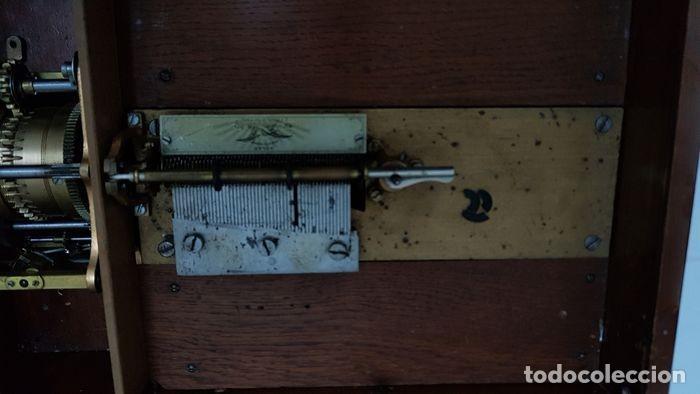 Gramófonos y gramolas: ANTIGUA CAJA DE MÚSICA ADLER CON UN DISCO año 1890 Peso 9 kg 1400 - Foto 7 - 207578493