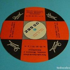 Gramófonos y gramolas: INSTRUCCIONES PARA EL USO. DUAL 295 SD. Lote 208163356
