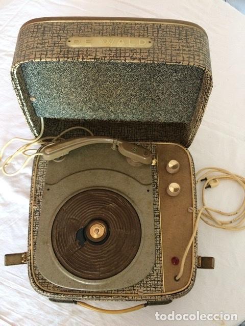 ANTIGUO TOCADISCOS DE WALD, VINTAGE, AÑOS 1950/60 (Radios, Gramófonos, Grabadoras y Otros - Gramófonos y Gramolas)